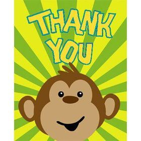 Monkey Around Thank You Notes (8-pack)