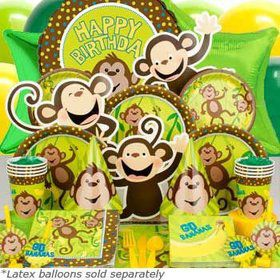 Monkey Around Ultimate Tableware Birthday Kit Serves 8