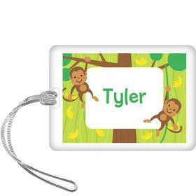 Monkey Party Personalized Bag Tag (each)