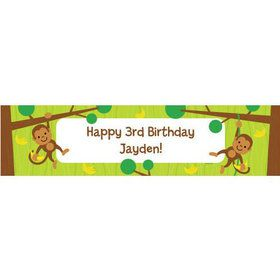 Monkey Party Personalized Banner (each)