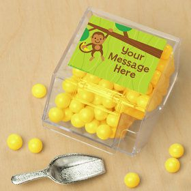 Monkey Party Personalized Candy Bin with Candy Scoop (10 Count)