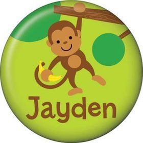 Monkey Party Personalized Mini Magnet (each)