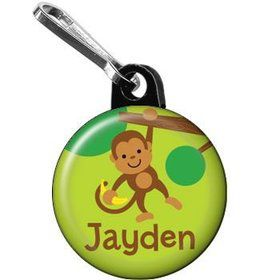 Monkey Party Personalized Mini Zipper Pull (each)