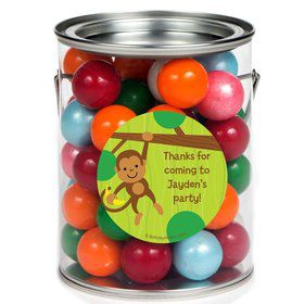 Monkey Party Personalized Paint Can Favor Container (6 Pack)