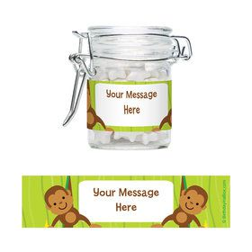Monkey Party Personalized Swing Top Apothecary Jars (12 ct)