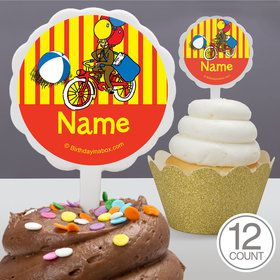 Monkey Personalized Cupcake Picks (12 Count)