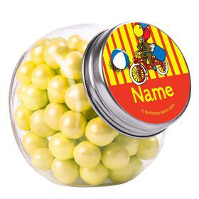 Monkey Personalized Plain Glass Jars (10 Count)