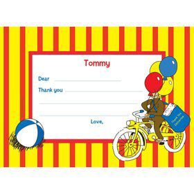 Monkey Personalized Thank You Note (each)