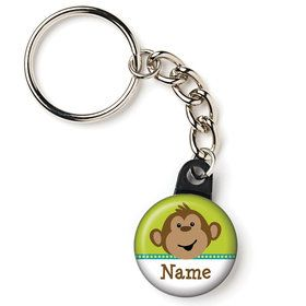 "Monkeyin?Around Personalized 1"" Mini Key Chain (Each)"