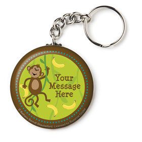 "Monkeyin?Around Personalized 2.25"" Key Chain (Each)"