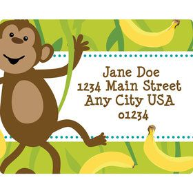 Monkeyin?Around Personalized Address Labels (Sheet of 15)