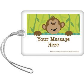 Monkeyin?Around Personalized Bag Tag (Each)