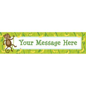 Monkeying Around Personalized Banner (Each)
