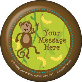 Monkeyin?Around Personalized Button (Each)