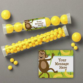 Monkeying Around Personalized Candy Tubes (12 Count)