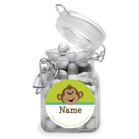 Monkeying Around Personalized Glass Apothecary Jars (10 Count)