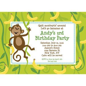 Monkeying Around Personalized Invitation (Each)