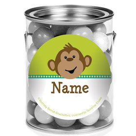 Monkeying Around Personalized Mini Paint Cans (12 Count)