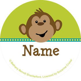 Monkeying Around Personalized Mini Stickers (Sheet of 24)