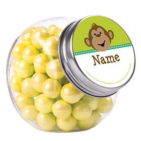Monkeying Around Personalized Plain Glass Jars (10 Count)