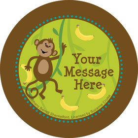 Monkeyin?Around Personalized Stickers (Sheet of 12)