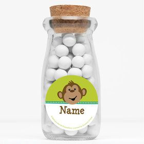 "Monkeying Around Personalized 4"" Glass Milk Jars (Set of 12)"