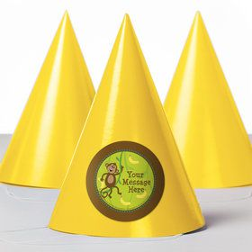Monkeying Around Personalized Party Hats (8 Count)