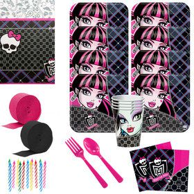 Monster High Birthday Party Deluxe Tableware Kit (Serves 8)