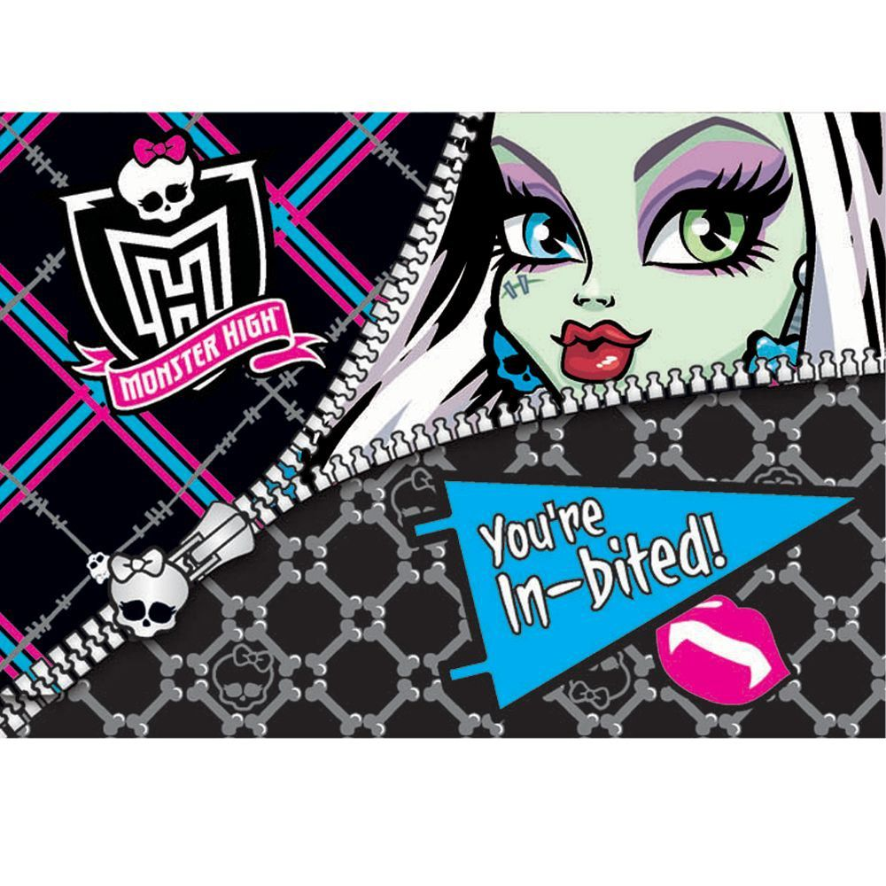 Monster High Personalized Birthday Invitations print photo greeting ...