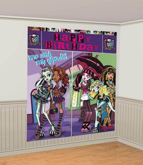 Monster High Scene Setter Wall Decorating Set (Each)