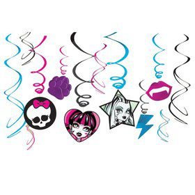 Monster High Swirl Cutouts