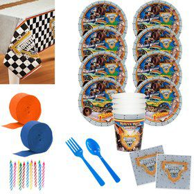 Monster Jam 3D Deluxe Tableware Kit (Serves 8)