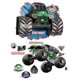 Monster Jam 3D Giant Decals and Wall Burst Kit