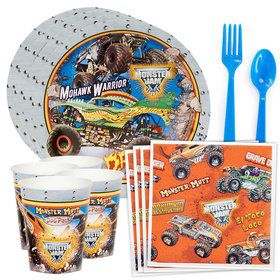 Monster Jam 3D Standard Tableware Kit (Serves 8)