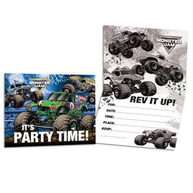 Monster Jam Grave Digger Party Invitations (8)