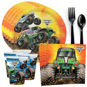 Monster Jam Grave Digger Tableware Kit (Serves 8)