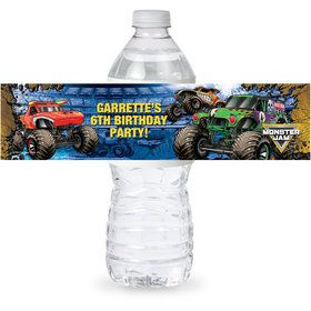 Monster Jam Personalized Bottle Label (Sheet of 4)