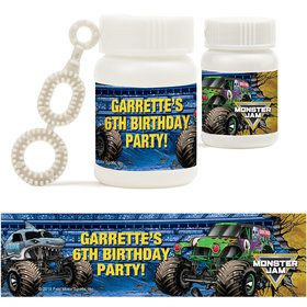 Monster Jam Personalized Bubbles (18 Pack)