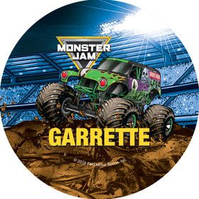 Monster Jam Personalized Mini Stickers (Sheet of 24)
