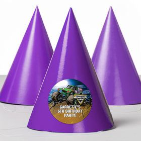 Monster Jam Personalized Party Hats (8 Count)