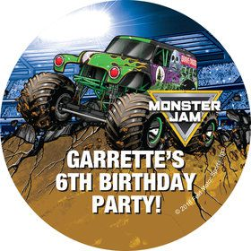 Monster Jam Personalized Stickers (Sheet of 12)