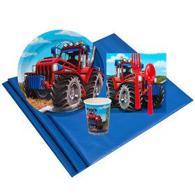 Farm Tractor 8 Guest Party Pack