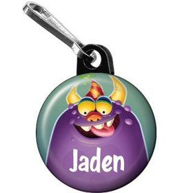 Monster Party Personalized Mini Zipper Pull (each)