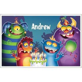 Monster Party Personalized Placemat (each)