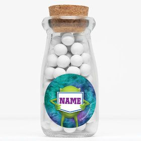 """Monster Personalized 4"""" Glass Milk Jars (Set of 12)"""