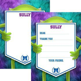 Monster Personalized Thank You Note (Each)