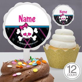 Monster School Personalized Cupcake Picks (12 Count)