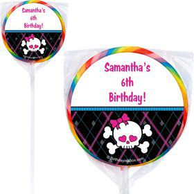 Monster School Personalized Lollipop (PACK OF 12)