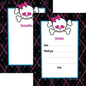 Monster School Personalized Thank You Note