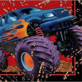 Monster Truck Beverage Napkins (16-pack)
